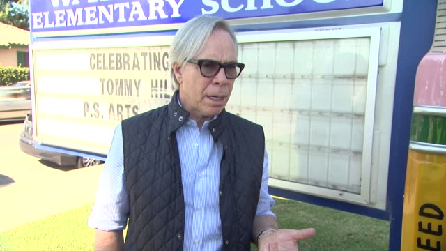 CLEAN Tommy Hilfiger Visits Tommy Hilfiger/PS Arts Education Program At Walgrove Elementary School Los Angeles CA United States 10/15/13 EVENT...
