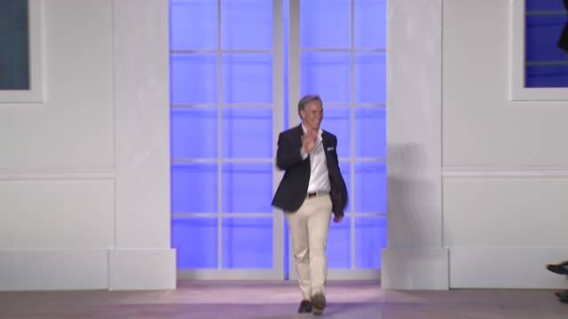 tommy hilfiger walks the runway after tommy hilfiger spring 2012 women's collection during mercedesbenz fashion week spring 2012 at the tommy... - tommy hilfiger designer label stock videos and b-roll footage