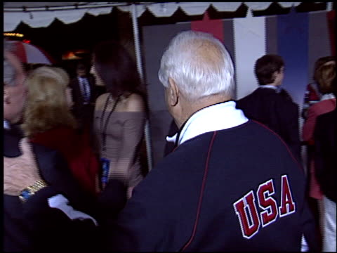 tommy lasorda at the 'miracle' premiere at the el capitan theatre in hollywood california on february 2 2004 - miracle stock videos & royalty-free footage