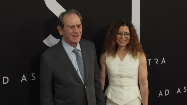 tommy lee jones and dawn laureljones at the ad astra special screening at arclight cinerama dome on september 18 2019 in hollywood california - cinerama dome hollywood stock videos & royalty-free footage