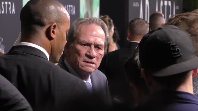 tommy lee jones attends the ad astra premiere at arclight cinerama dome in hollywood in celebrity sightings in los angeles - cinerama dome hollywood stock videos & royalty-free footage
