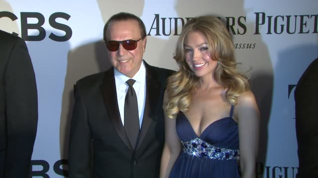 Tommy Mottola Thalia at The 67th Annual Tony Awards Arrivals at Radio City Music Hall on June 09 2013 in New York New York