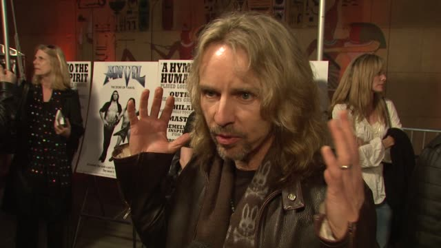 tommy shaw on the event the music of 'anvil' the appeal of metal at the 'anvil the story of anvil' premiere at los angeles ca - anvil the story of anvil stock videos and b-roll footage