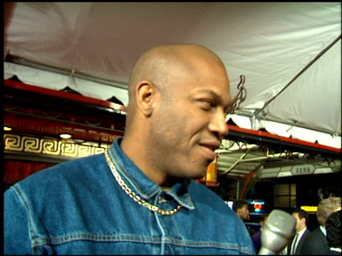 stockvideo's en b-roll-footage met tommy 'tiny' lister at the 'sugar hill' premiere on february 23 1994 - 1994