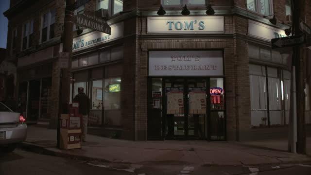MS Tom's Restaurant in the city