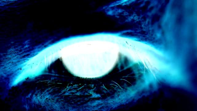 vídeos y material grabado en eventos de stock de toned asian woman human eye blinking - imagen virada