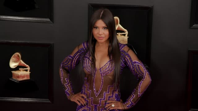 Toni Braxton at the 61st Grammy Awards Arrivals at Staples Center on February 10 2019 in Los Angeles California EDITORIAL