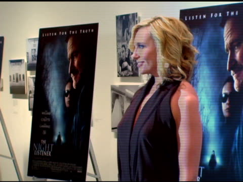 toni collette/ actress at the premiere of 'the night listener' at the museum of modern art in new york, new york on august 1, 2006. - toni collette stock videos & royalty-free footage