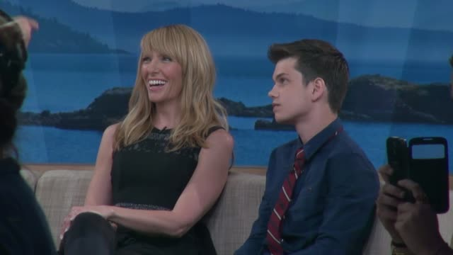 toni collette and liam james at the 'good morning america' studio in new york, ny, on 6/27/13. - toni collette stock videos & royalty-free footage