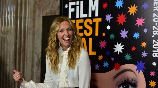 Toni Collette arrives at the 2018 LA Film Festival screening of Netflix's 'Wanderlust' at Wallis Annenberg Center for the Performing Arts on...