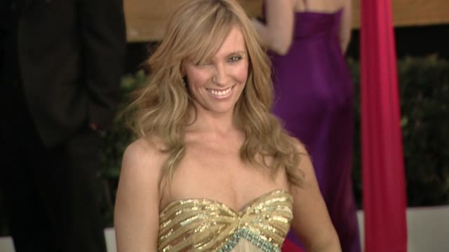 toni collette at the 16th annual screen actors guild awards - arrivals at los angeles ca. - toni collette stock videos & royalty-free footage