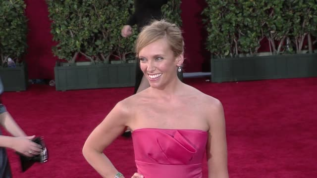 toni collette at the 61st annual primetime emmy awards - arrivals part 4 at los angeles ca. - toni collette stock videos & royalty-free footage