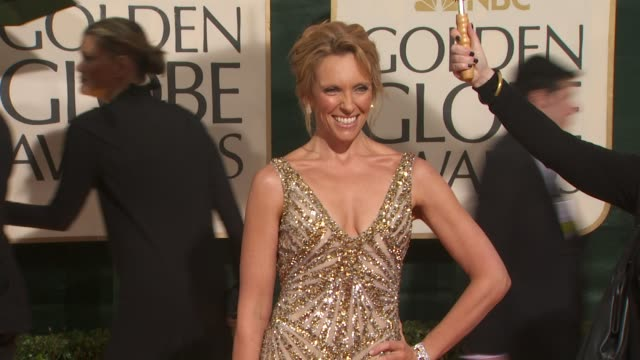 toni collette at the 67th annual golden globe awards arrivals part 4 at beverly hills ca - ゴールデングローブ賞点の映像素材/bロール