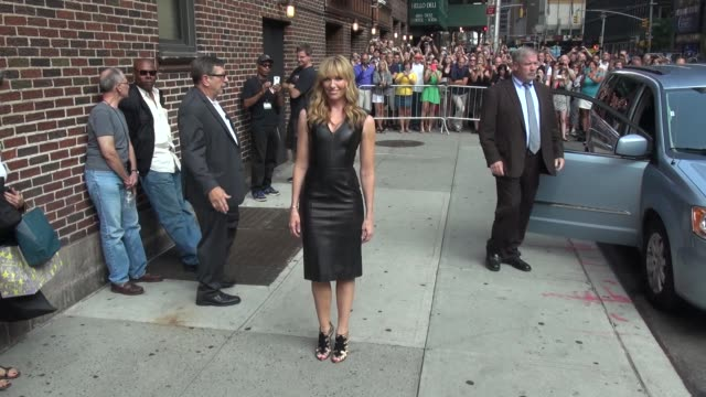 toni collette at the 'late show with david letterman' studio in new york, ny, on 9/12/13. - toni collette stock videos & royalty-free footage