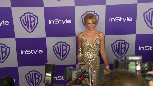 vídeos y material grabado en eventos de stock de toni collette at the warner bros and instyle golden globe afterparty at beverly hills ca - warner bros