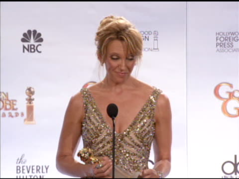 toni collette on following mo'nique's speech, on what makes her nervous while giving speeches, on preparing for the night. at the 67th annual golden... - toni collette stock videos & royalty-free footage
