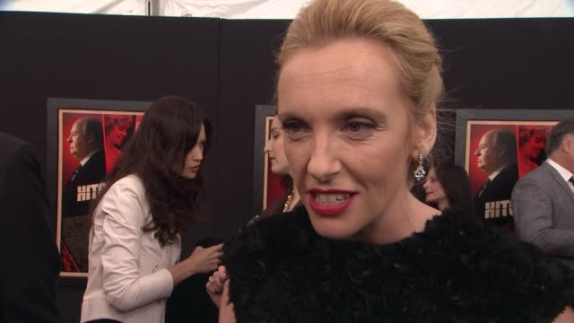 """toni collette on playing hitchcock's daughter, peggy. on working with the cast, on anthony hopkins's transformation """"hitchcock"""" premiere at ziegfeld... - toni collette stock videos & royalty-free footage"""