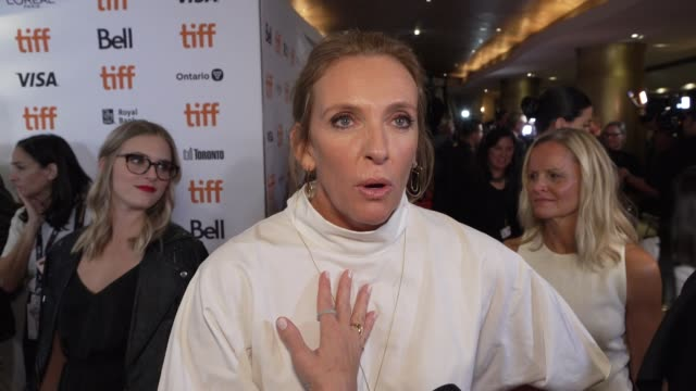 toni collette on what she loved about rian's take on this genre, the most fun part of playing this character and watching the film for the first time... - toni collette stock videos & royalty-free footage