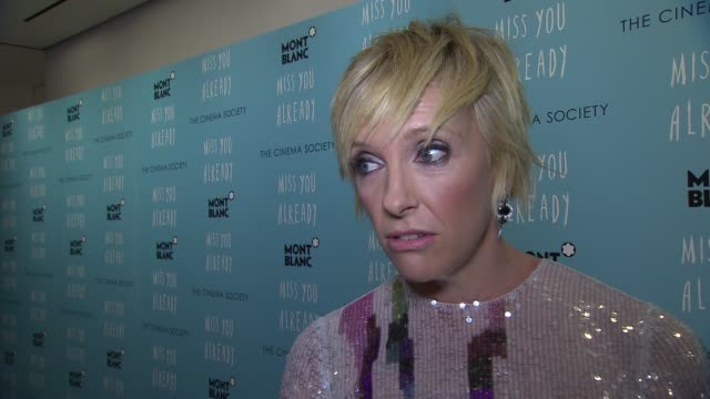 """toni collette talks about her new friendship with drew barrymore at """"miss you already"""" new york premiere at museum of modern art on october 25, 2015... - toni collette stock videos & royalty-free footage"""