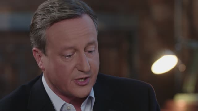 stockvideo's en b-roll-footage met the cameron interview; excerpt 'itv tonight: the cameron interview' england: london: david cameron interview sot - re family, son ivan cutaways... - itv