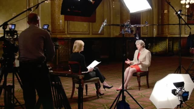 the leader interviews theresa may excerpt 'itv tonight the leader interviews theresa may' england london int theresa may interview sot what i'm doing... - meal stock videos & royalty-free footage