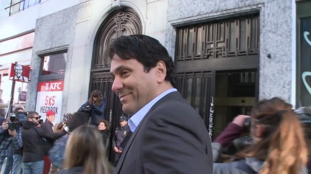 tonino mebarak shakira´s brother at the courthouse for the trial for plagiarism against shakira and carlos vives - shakira stock videos and b-roll footage