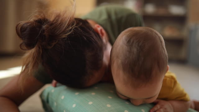 tons of fun with her little one - crawling stock videos & royalty-free footage