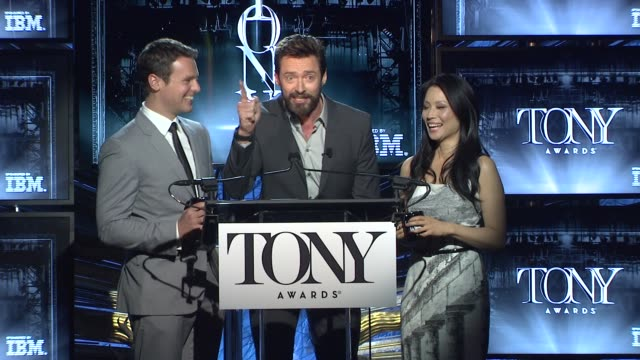 tony award nominations at paramount hotel on april 29, 2014 in new york city. - lucy liu stock videos & royalty-free footage