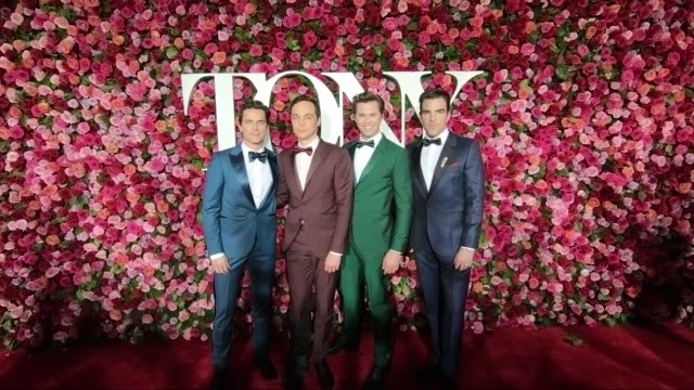 tony awards alternative views red carpet at radio city music hall on june 10 2018 in new york city - annual tony awards stock videos & royalty-free footage