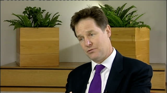 Nick Clegg interview ENGLAND Tyne and Wear Sunderland INT Nick Clegg MP interview SOT