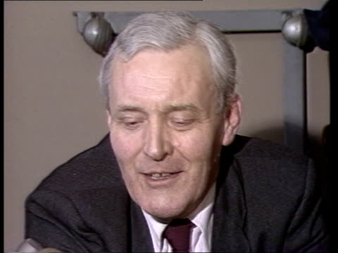 tony benn interview on failing to win selection as labour candidate for bristol south; england: bristol: int tony benn mp interview sot - i'm too old... - トニー ベン点の映像素材/bロール