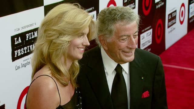 tony bennett and wife susan crow at the spirit of independence award ceremony honoring clint eastwood at billy wilder theater in los angeles,... - independent feature project video stock e b–roll