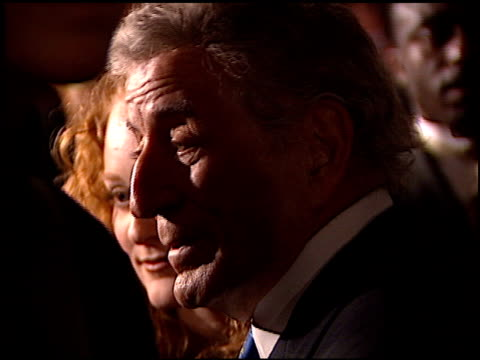 tony bennett at the clive davis' grammy awards party at the beverly hilton in beverly hills, california on february 20, 2001. - clive davis stock videos & royalty-free footage