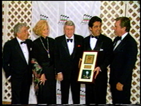 Tony Bennett at the Various Events with Frank Sinatra on January 1 1993