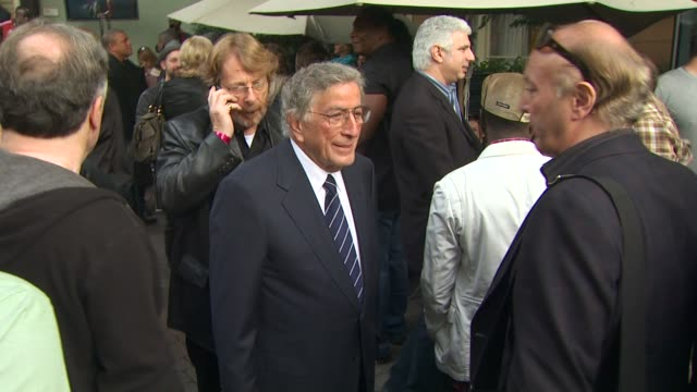 tony bennett at the we are the world 25th anniversary recording for haitian earthquake relief at los angeles ca - 25th anniversary stock videos and b-roll footage