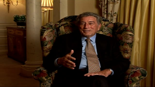 tony bennett celebrates 80th birthday tony bennett interview sot since january this year somebody brings out a birthday cake a regular basis - tony bennett singer stock videos and b-roll footage