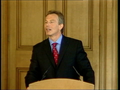 tony blair admits public is losing trust in him london downing street tony blair mp press conference sot 'in relation to dr kelly i think it's right... - weapons of mass destruction stock videos & royalty-free footage
