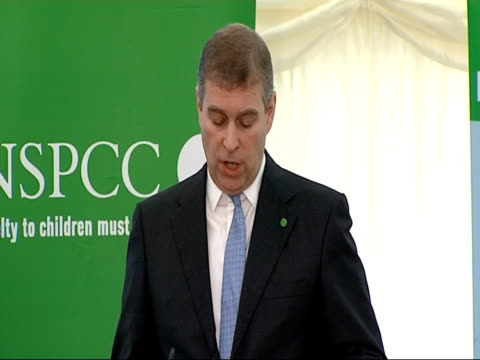 Tony Blair and Prince Andrew visit NSPCC 'Full Stop' campaign event Prince Andrew SOT at the 1999 launch we robustly set about things with a...