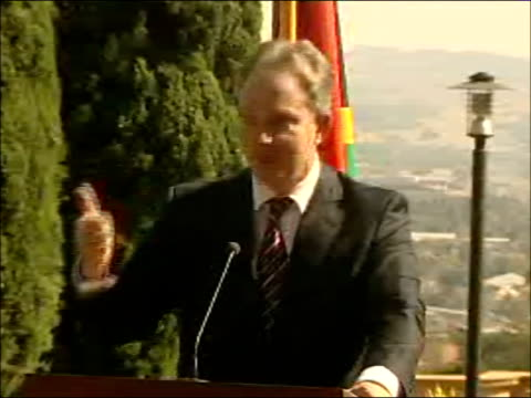 tony blair and thabo mbeki press conference so i think next week is potentially a very big week indeed and i would only simply say to those who often... - hiv aids conference stock videos & royalty-free footage