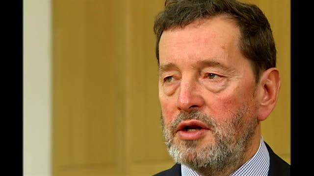 tony blair announces resignation: blair's britain; david blunkett mp interview sot - david blunkett stock videos & royalty-free footage