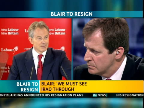 ITV News Special PAB 1140 1242 1217 Tony Blair speech contd SOT some things I knew I would be dealing with some I thought I might be some never...