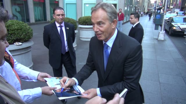 Tony Blair at the 'Fox and Friends' studio in New York NY on 09/25/12