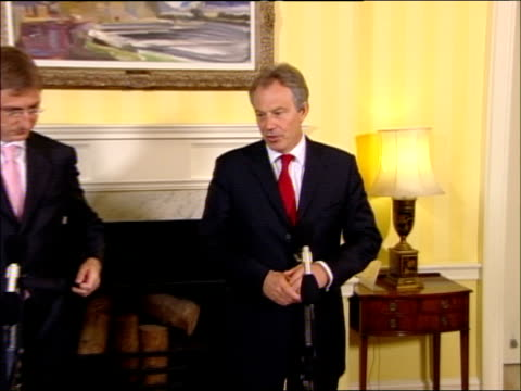tony blair comments on possible un sanctions tony blair and ferenc gyurcsany enter room for joint press conference tony blair mp press conference sot... - traditionally hungarian stock videos & royalty-free footage