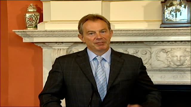 Tony Blair meeting with Finnish counterpart Matti Vanhanen photocall and press conference Its for each member of Nato to decide how they contribute...