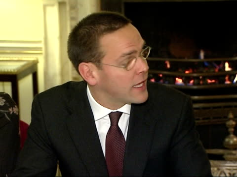 tony blair meets with business leaders james murdoch speech sot welcomes support / challenge we all face together will be solved only by combination... - climate policy stock videos & royalty-free footage