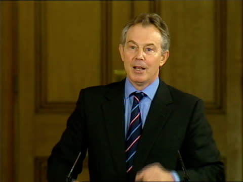 tony blair monthly press conference discussing low-income families; tony blair mp press conference sot - on relative inequality measurements and... - median nerve stock videos & royalty-free footage