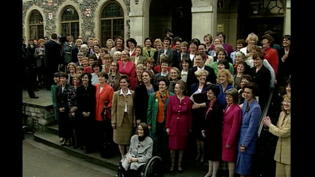 tony blair mp photocall with labour women mps - mp stock-videos und b-roll-filmmaterial