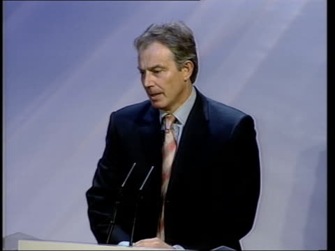 tony blair mp speech sot - first of all to say what a masterstroke it was for the organisers of the bid to site in the horseguards just outside the... - bid stock videos & royalty-free footage