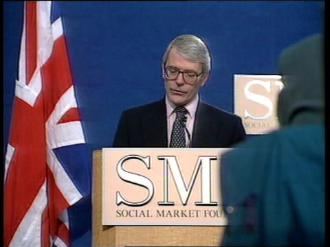 tony blair on late payment/ john major on education itn ms john major speech sot i personally never had the chance of going to university neither did... - john major stock-videos und b-roll-filmmaterial