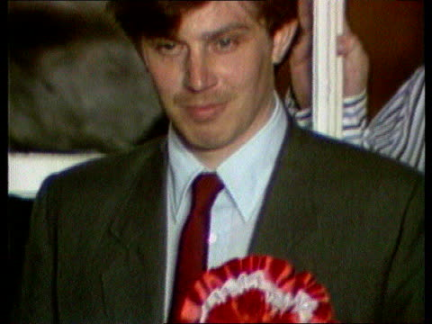 tony blair profile itn lib bucks beaconsfield losing lab pty candidate in byelection on platform tilt up - candidate stock videos and b-roll footage